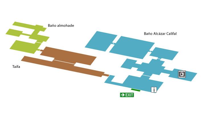 Baños Cordoba | Mapa Del Conjunto Banos Del Alcazar Califal Visita Virtual
